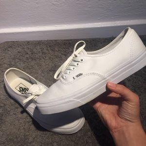 white authentic vans